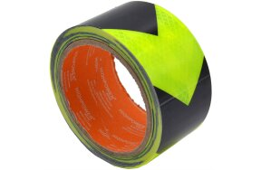 REFLECTIVE TAPE 50mmx5m YELLOW-BLACK (ARROW)